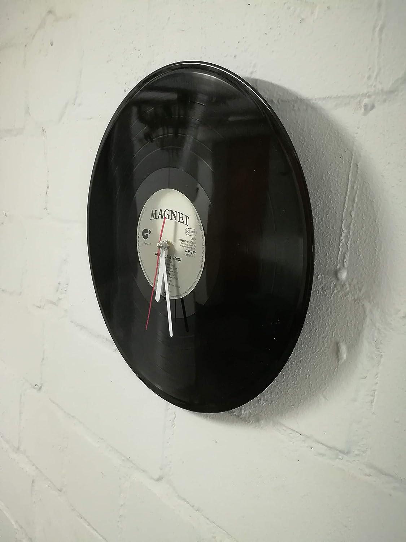 Wanduhr aus Vinyl Schallplattenuhr Classic Motiv upcycling design Uhr Wand-deko vintage-Uhr Wand-Dekoration retro-Uhr