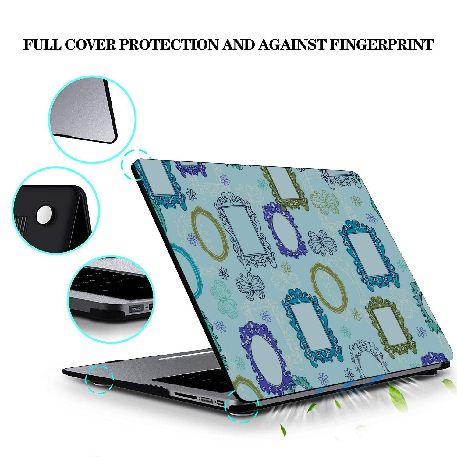 MacBook Air 11 Case Small Objects Beauty Dressing Mirror Plastic Hard Shell Compatible Mac Air 11 Pro 13 15 Laptop Hard Case Protection for MacBook 2016-2019 Version