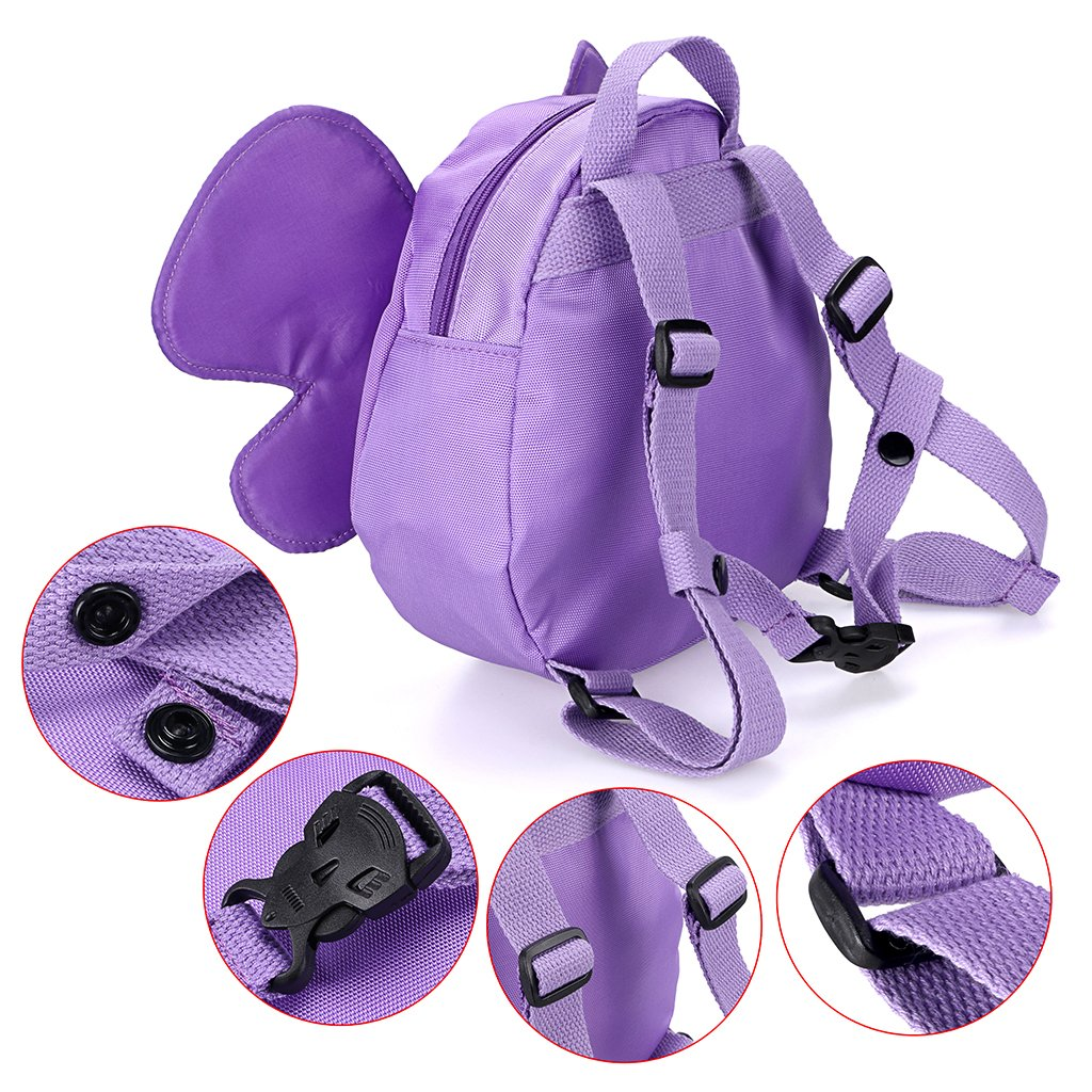 Pink Hipiwe Butterfly Baby Walking Safety Backpack Anti-lost Mini Bag Toddler Child Strap Backpack with Safety Leash