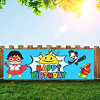 Birthday Banner for Ryan's World Party Supplies, Birthday Party Backdrop Decorations, Happy Birthday Banner for Ryans…