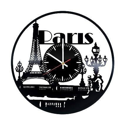 Amazon Com Paris Vinyl Record Wall Clock Paris City