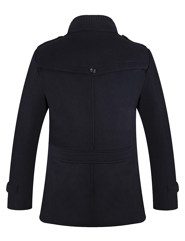 6d471182fb7 APTRO Men s Winter Slim Fit Wool Coat Single Breasted Wool Trench Jacket   Amazon.co.uk  Clothing