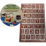 western font letter stencils reusable adhesive designs free how to etch cd