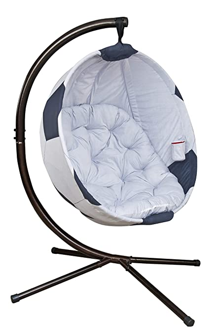 5eb32a47d Image Unavailable. Image not available for. Color: Flowerhouse Soccerball  Hanging Lounge Chair with Stand FHSB100