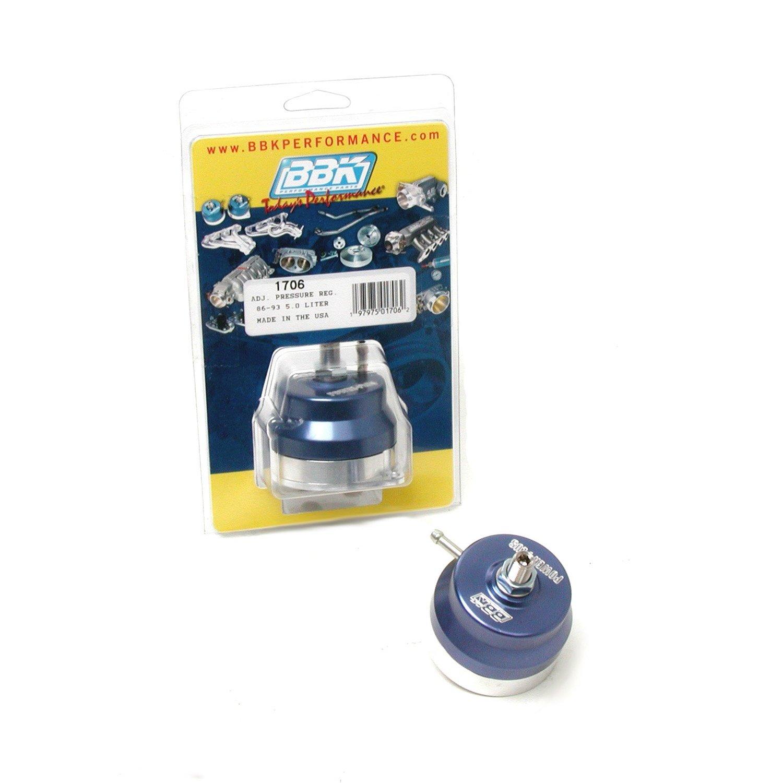 BBK 1706 Fuel Pressure Regulator - Fully Adjustable - CNC Machined Billet Aluminum - Direct Fit for Ford Mustang 5.0 And 302/351 EFI Applications