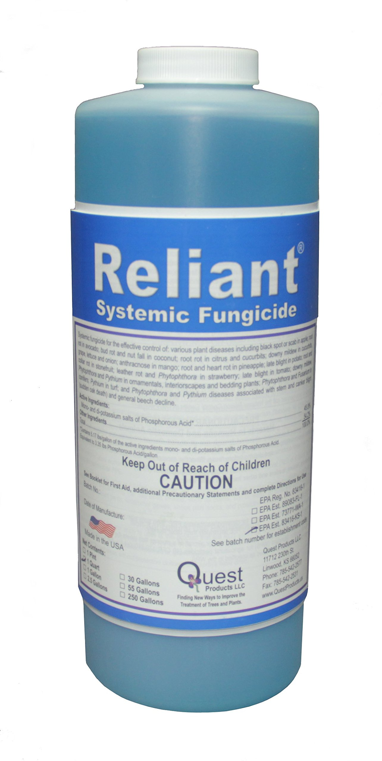 Reliant Systemic Fungicide (Agri-Fos/Garden Phos) 1 Quart/32oz by Quest
