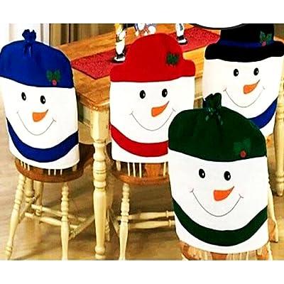 Jeux de chaise Décorations de Noël Noël Santa Claus (un ensemble de quatre modèles en combinaison)