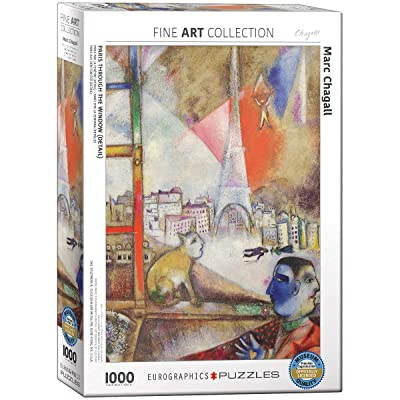 EuroGraphics Marc Chagall Paris Through The Window Puzzle (1000 Piece): Toys & Games [5Bkhe0905572]