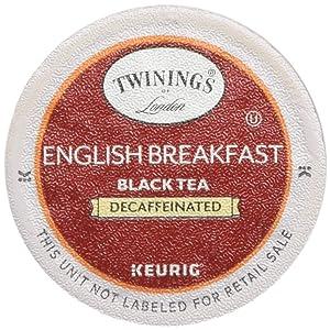 Twinings of London Decaffeinated English Breakfast Tea K-Cups for Keurig, 48 Count