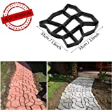 Wave Shape DIY Walking Path Maker Garden Patio Lawn Grass Planting Brick Mold