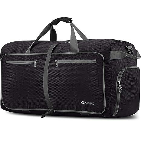 11381fec4 Gonex 150L Extra Large Duffle Bag, Packable Travel Luggage Shopping XL  Duffel Black