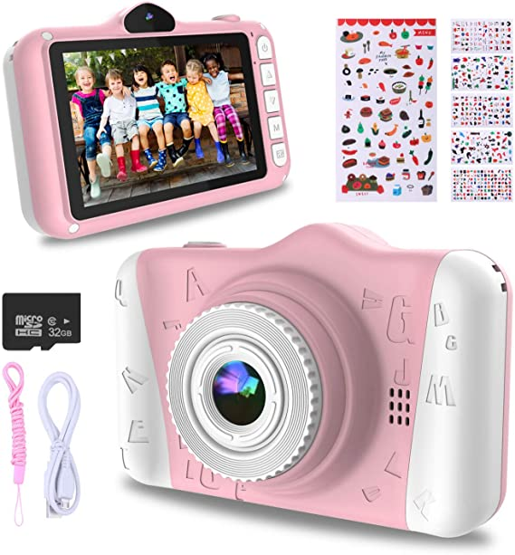 WOWGO Kids Digital Camera - 12MP Children's Camera with Large Screen for Boys and Girls