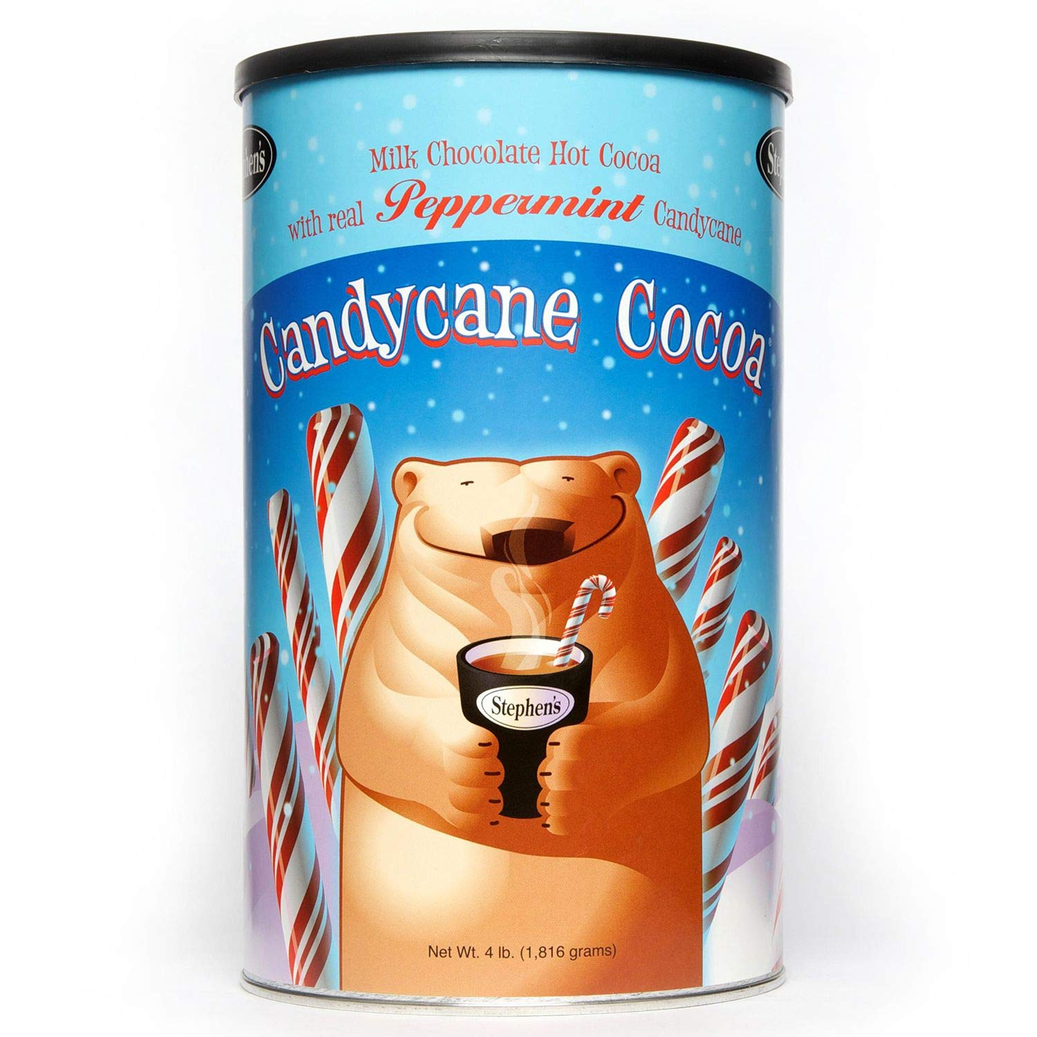 Stephen's Gourmet Cocoa (Candy Cane 4lb canister) by STEPHEN'S