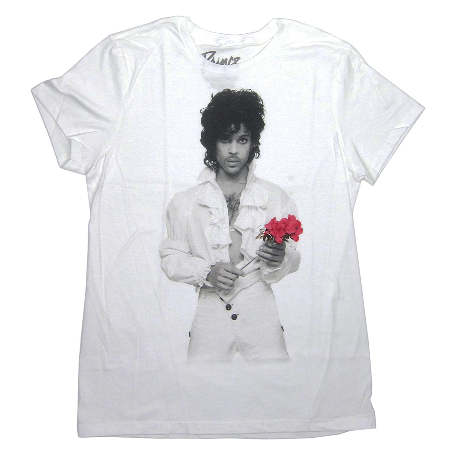 141e14d1 Amazon.com: Bravado Prince Flower T-Shirt (X-Large) White: Clothing