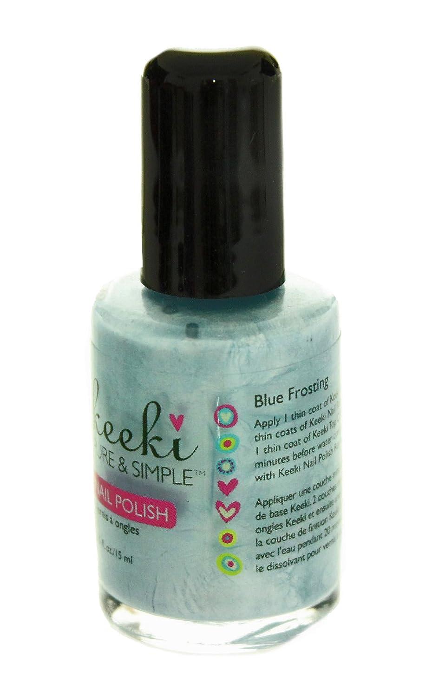 Amazon.com : Keeki Pure & Simple Nail Polish, Blue Frosting, .5 ...