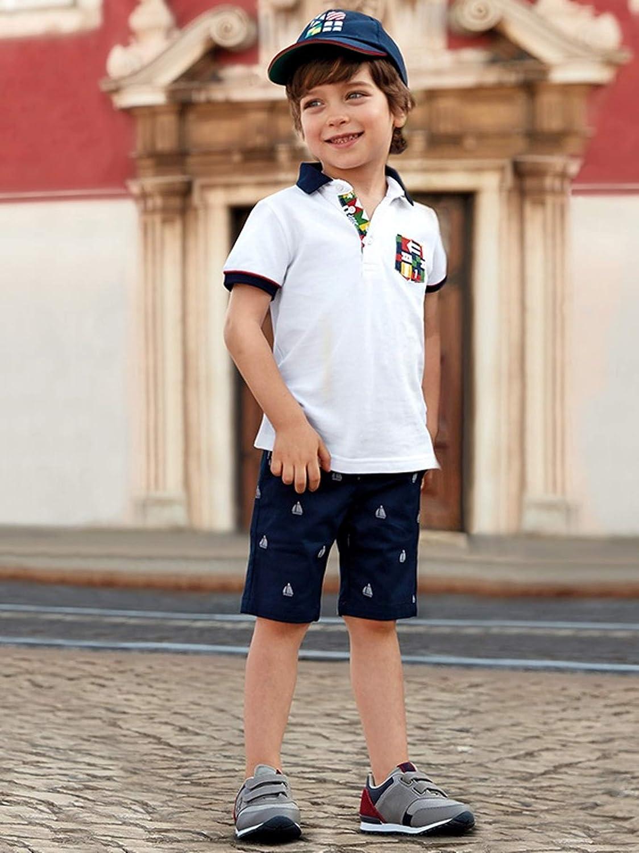 Jaquard Chino Shorts for Boys Mayoral 3227 Navy