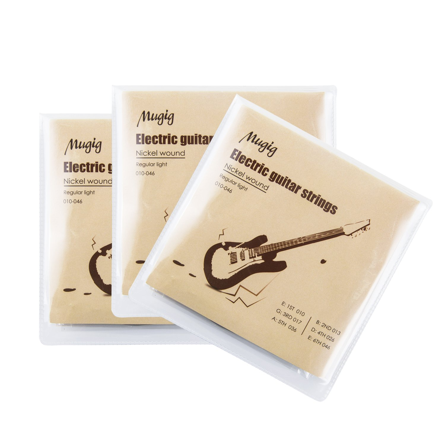 Mugig Electric Guitar Strings, Guitar Accessories- Phosphor Bronze, Super light