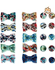 UFBemo 6/10Pack Pet Dog Cat Bow Tie Pet Scarf Neckerchief Set Accessories for Small and Medium Dogs on Holiday