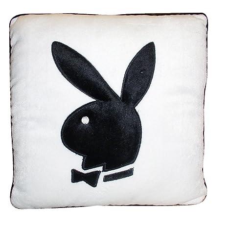 35 cm x 35 cm Playboy cojín blanco negro Producto nuevo ...