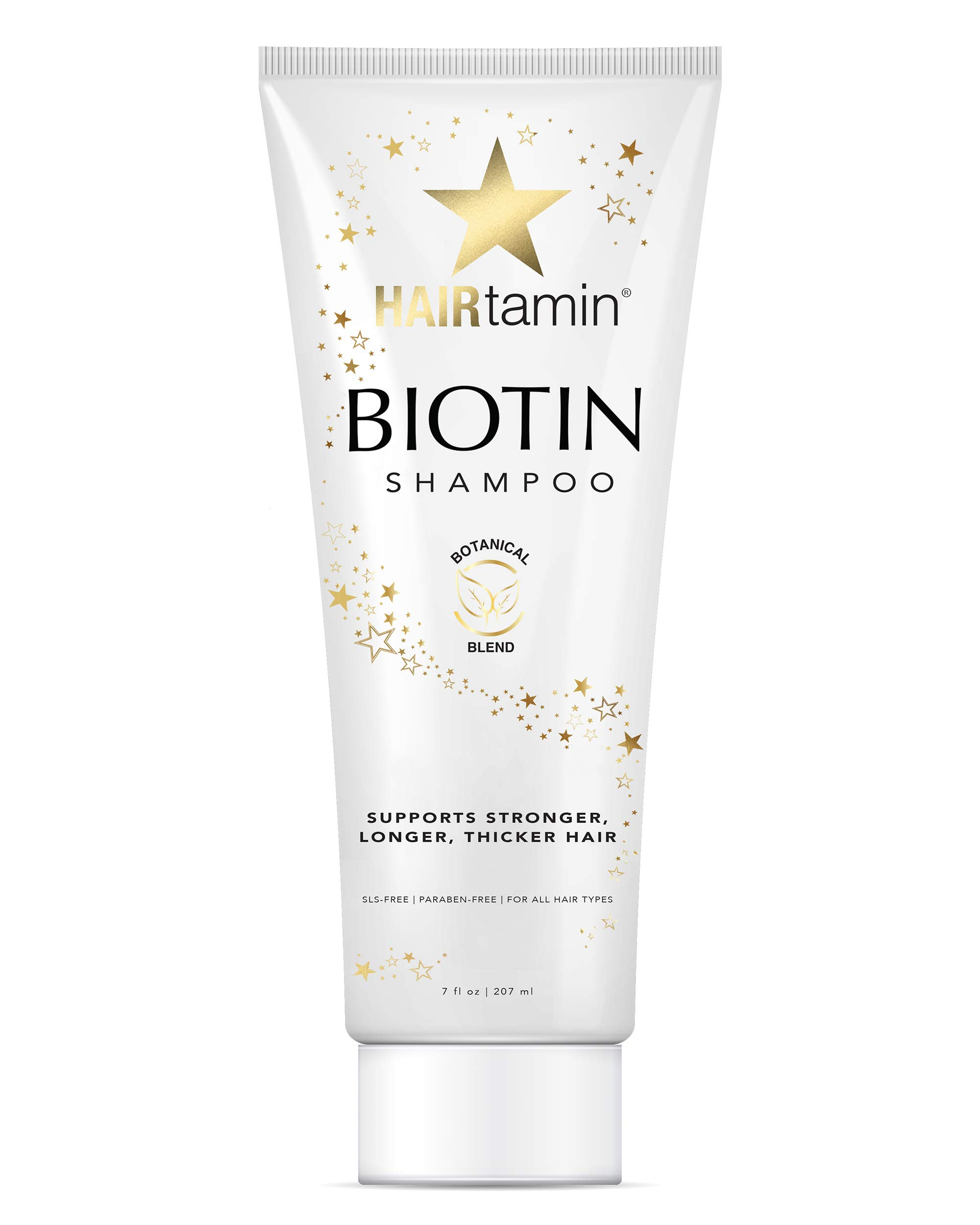 Hairtamin Biotin Hair Growth Shampoo, Promotes Healthy Growing Hair and Strength with Hydrating Vitamin Rich Formula in this Sulfate Free Shampoo, Made With Vitamin B5, Cucumber Extract, Aloe Vera