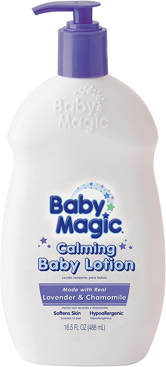 Baby Magic Calming Baby Lotion, Lavender and Chamomile, 16.5 Ounces (Pack of 6)