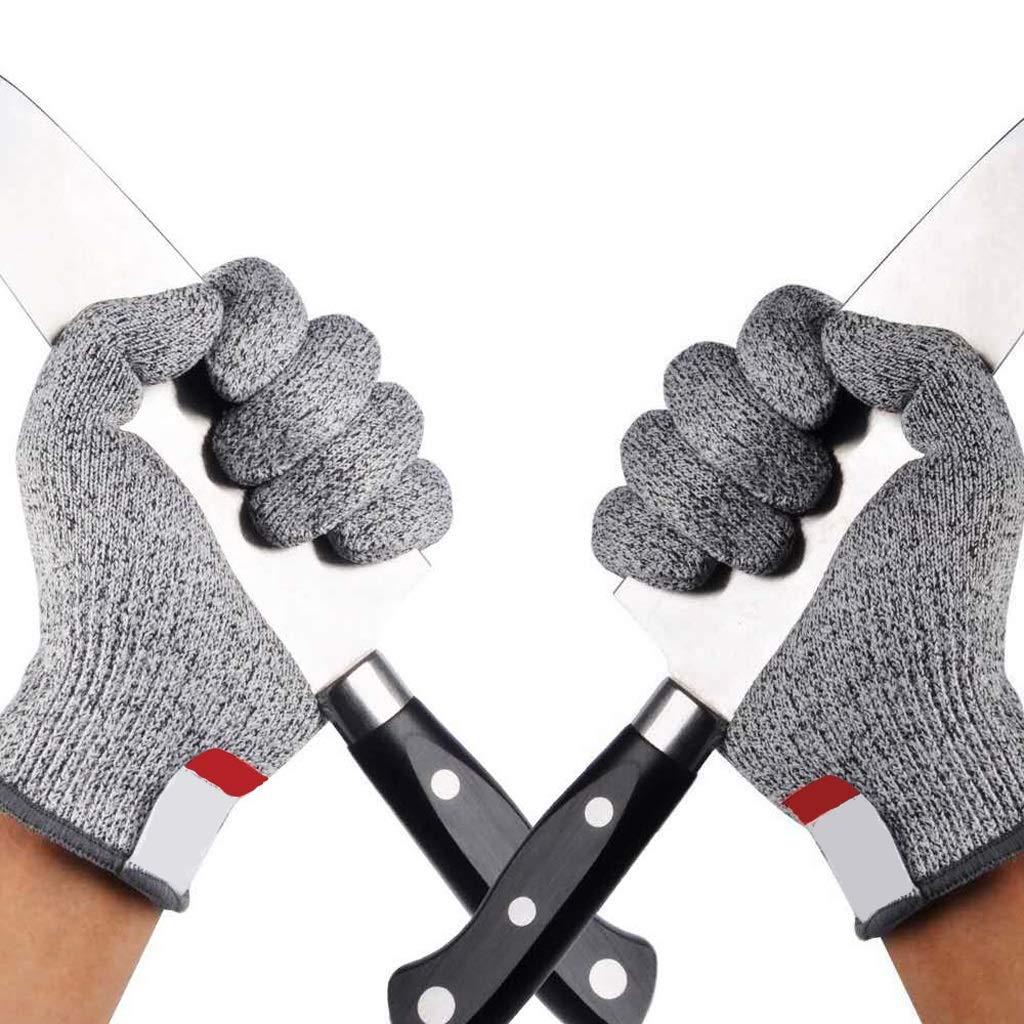 LZRZBH Gray Work Gloves, Coated Anti-Freeze Anti-Skid Industrial Gloves, Knit Wrist Cuffs, Gloves (Medium,4 Pairs)