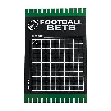 Amazon com: Football Betting Squares Chalkboard: Health