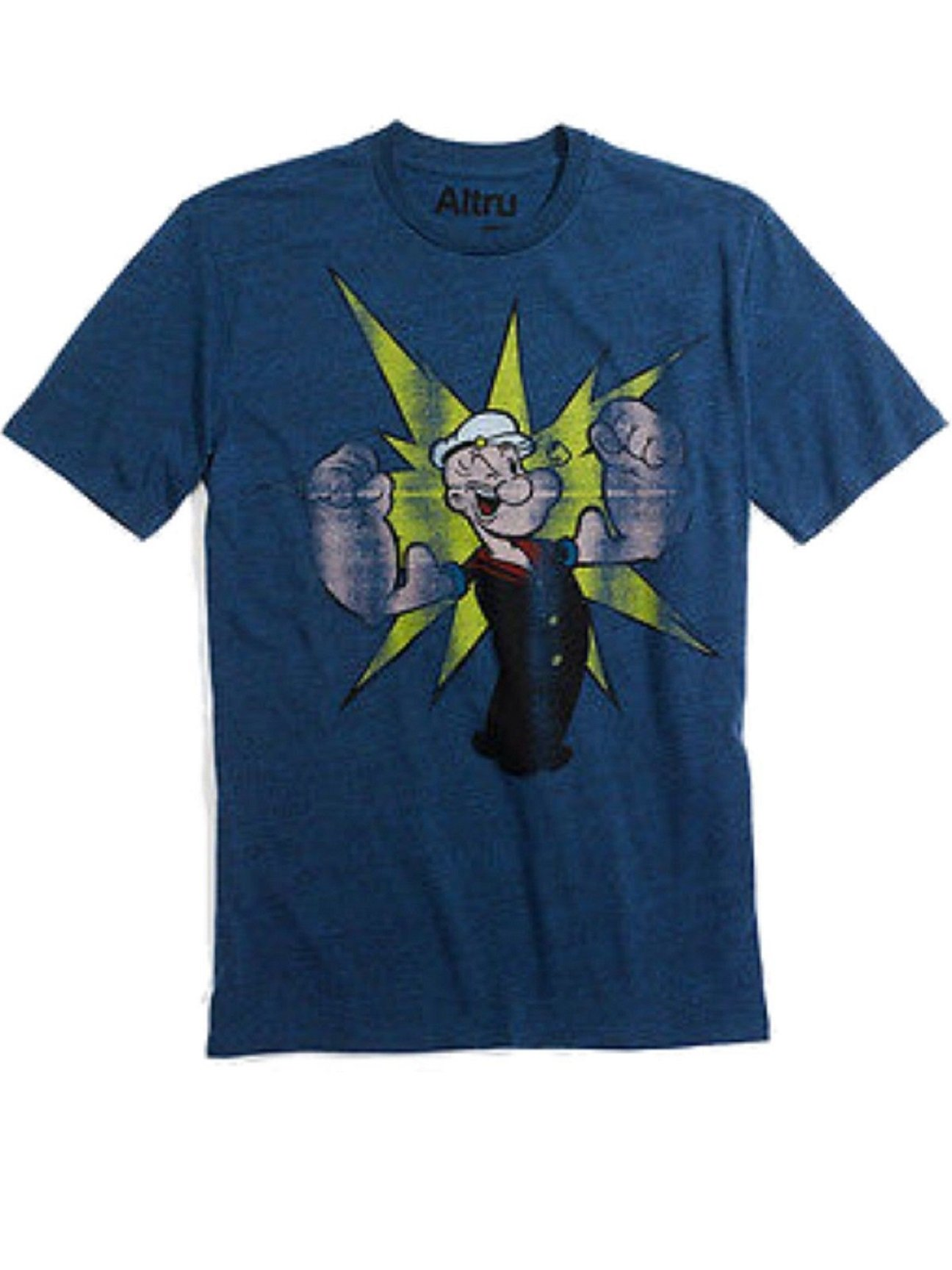 Altru Popeye Pow T Trim Crewneck Blue Shirts