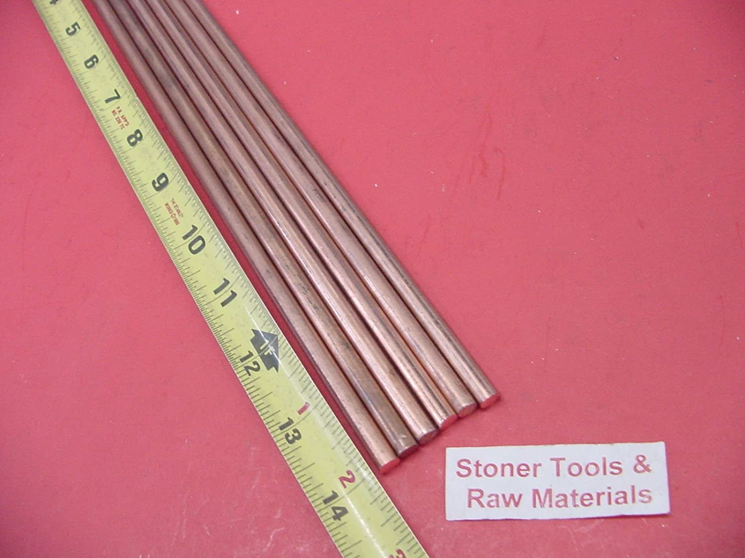 """2 Pieces 1//2/"""" C110 COPPER ROUND ROD 14/"""" long H04 Solid CU New Lathe Bar Stock"""