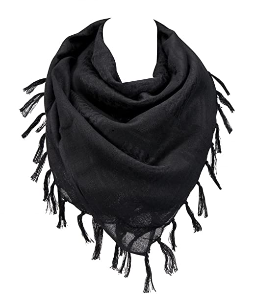 100% Cotton Military Shemagh Arab Tactical Desert Keffiyeh Scarf Wrap for  Women Men 43 quot  869991cf7
