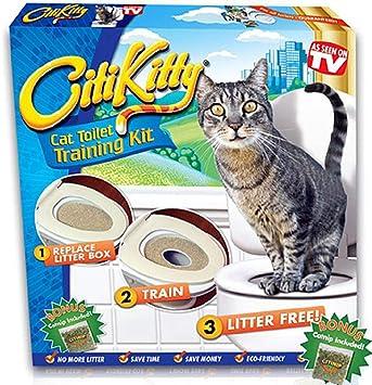 Arenero Amazing K para enseñar a tu gato a usar el retrete: Amazon.es: Productos para mascotas