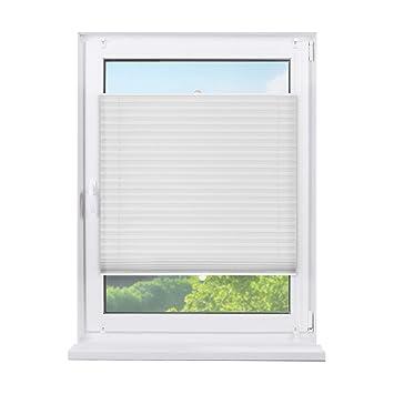 Amazon De Fensterdecor Klemmfix Sichtschutz Plissee Mit Spannfeder