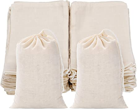 Tatuo 50 Piezas Bolsas de algodón con cordón para artículos para el hogar 4 por 6 pulgadas: Amazon.es: Libros