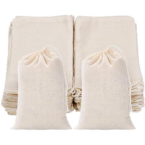50 bolsas de algodón con cordón para bolsas de muselina ...