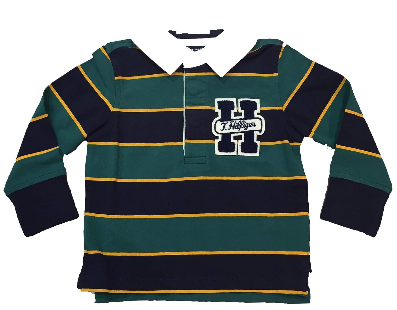 Tommy Hilfiger - Polo Tie Stripe Rugby Manga Larga: Amazon.es ...