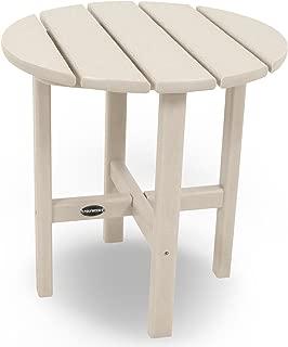 "product image for POLYWOOD RST18SA Round 18"" Side Table, Sand"