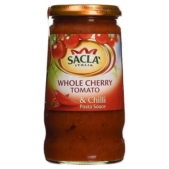Sacla tomate cherry y salsa de chile Pasta 350g