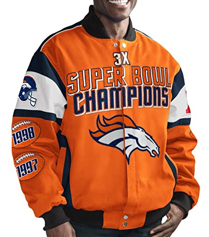2f0bda64f Denver Broncos G-III Legacy 3 Time Super Bowl Champions Cotton Twill Jacket  (4X