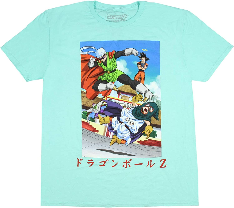 Bioworld Dragon Ball Z Camisa Poster de Hombres Gohan Goku Goten troncales Adultas Mens T-Camisa MD