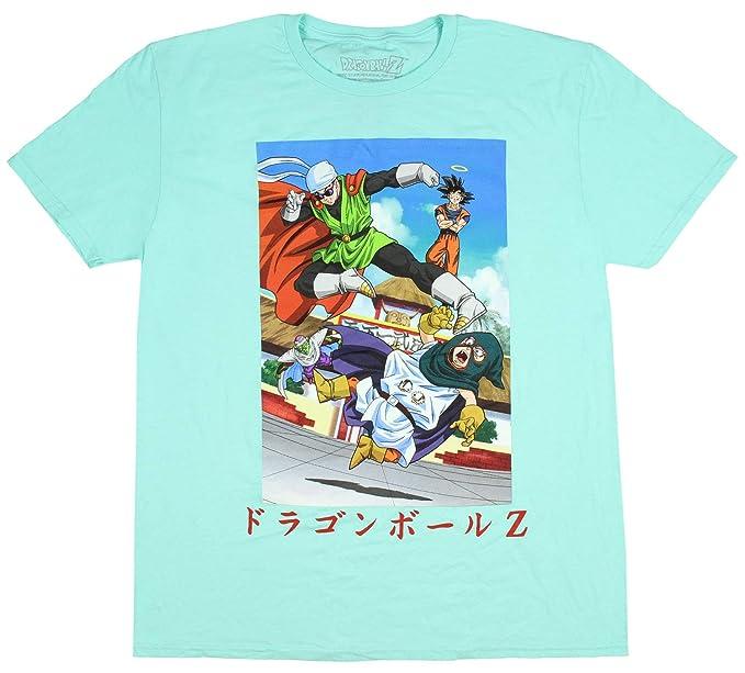 4deefcd0 Dragon Ball Z Shirt Poster Men's Goku Gohan Trunks Goten Mens Adult T-Shirt  SM