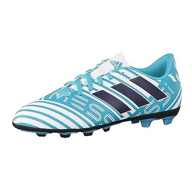 wholesale dealer 7308f 788c5 adidas Nemeziz Messi 17.4 FxG J, Chaussures de Football Mixte Enfant,  Multicolore-Blanc