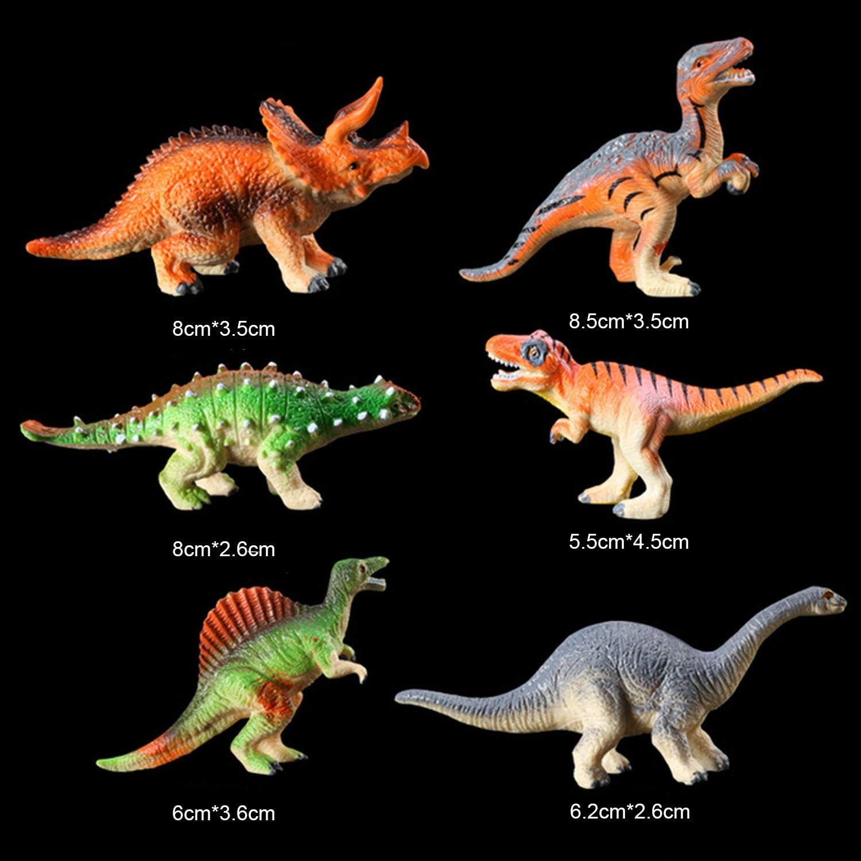 Bolsa De Dinosaurios X 8 modelos de plástico
