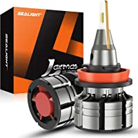 $34 » SEALIGHT H11/H8/H9 LED Headlight Bulbs, 400% Brighter Ultra-thin Design LED Headlights…