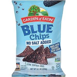 Garden of Eatin', Blue Chips, No Salt Added, 8.1 oz