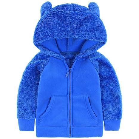 Bebé Niños Chaquetas con capucha de polar Abrigos con capucha Chaquetas Deportivas Fleece Trajes Cálidos para