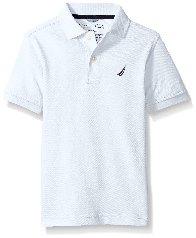 Nautica Big Boys Short Sleeve Heritage Pique Polo, WHITE, Large ...