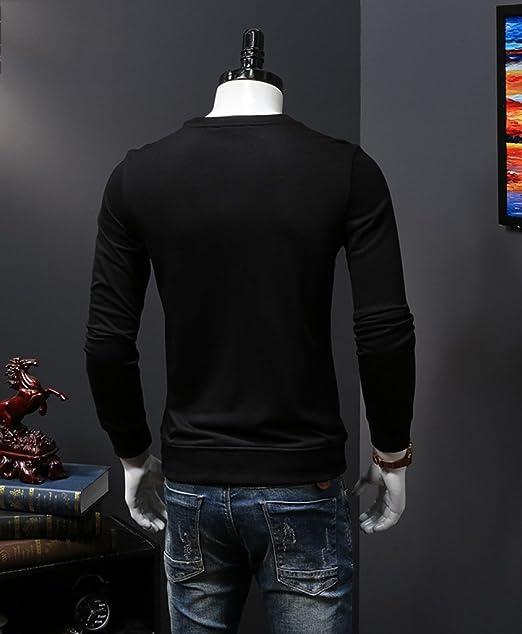 nihiug Herren Sweatshirt Musterpullover Männer Herbst Reine Stickerei  Einfache Jugend Langarm Pullover Mode  Amazon.de  Bekleidung 521b85a6af