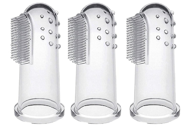 CalMyotis® Bebé cepillo de dientes dedo Cepillo de dientes con caja - Para Dientes y Encías Masaje (3 unidades) YW1682505