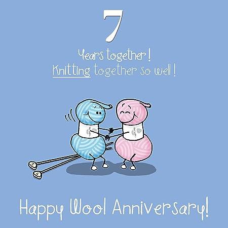 Anniversario Matrimonio 7 Anni.7 Di Nozze Biglietto Di Auguri Anniversario Anniversario Di
