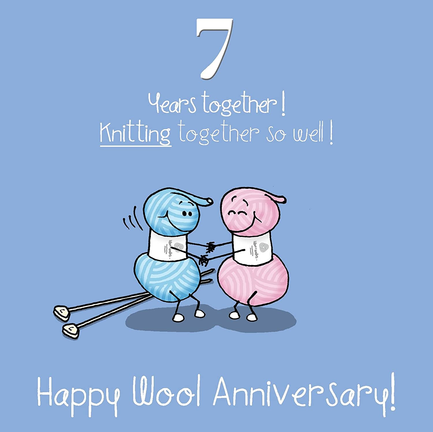 My Husband 7th Wedding Anniversary Card On Our Wool Anniversary